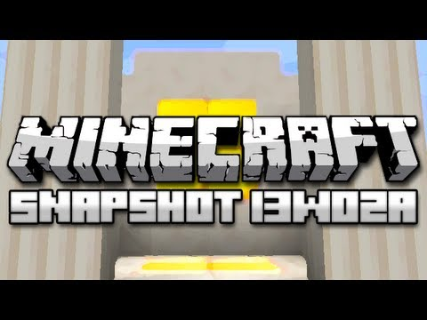 Minecraft: Exploding Minecarts, Quartz Blocks, and More! (Snapshot 13w02a)