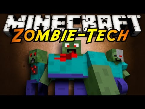 Minecraft Mod Showcase : ZOMBIETECH!