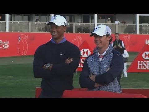 Woods and McIlroy 'friends' ahead of Abu Dhabi Championship