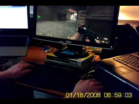 Counterstrike Source with a trackball