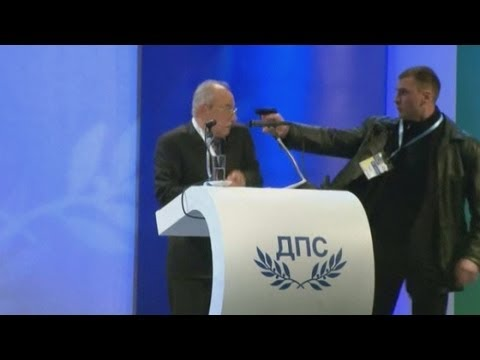 Gun attack during televised conference in Bulgaria