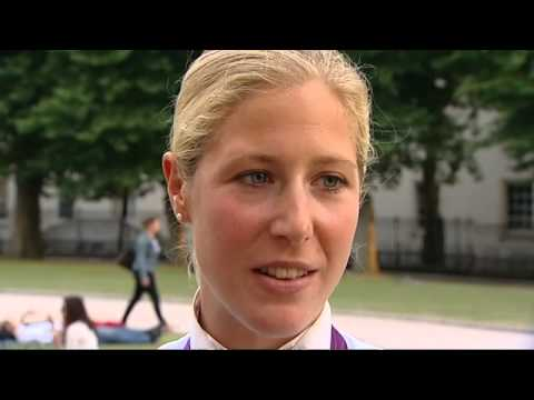Charlotte DuJardin celebrates second 2012 Olympics dressage gold
