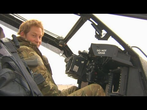 Prince Harry leaves Afghanistan: Captain Wales explains the controls of his Apache helicopter