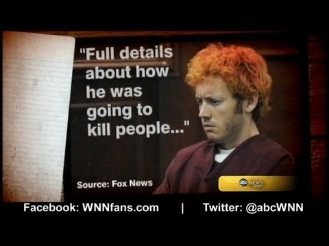 James Holmes May Have Sent Notebook Detailing Shooting Plans