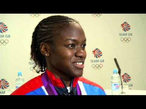 Nicola Adams celebrates 2012 Olympics gold flyweight boxing win