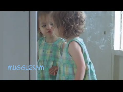 Funny Babies: Oh Baby Kissing Herself In The Mirror (Shorter Version)