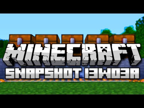 Minecraft: Droppers, Hopper Carts, Player Detectors, and More! (Snapshot 13w03a)