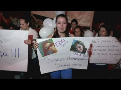 Brazil fire: Vigil held for victims in Santa Maria