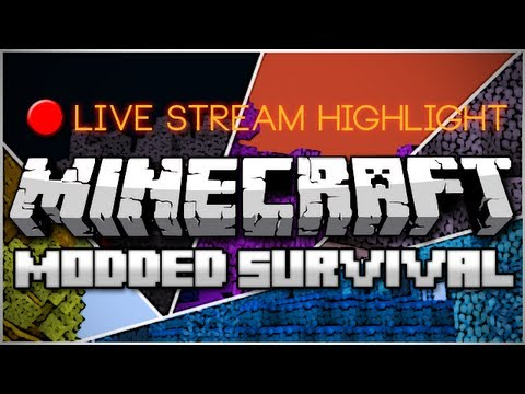 Minecraft: Modded Survival Live Stream Highlight: Cheating Death