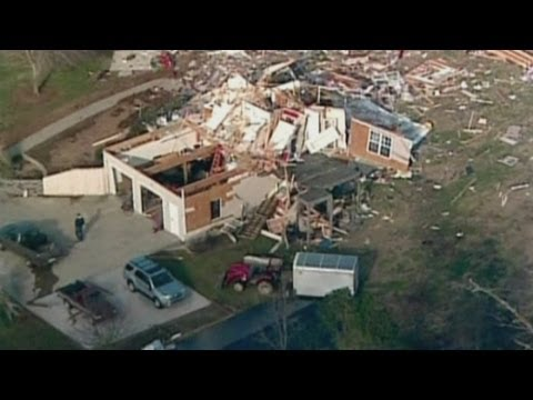 Aerials of Georgia tornado aftermath