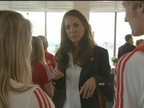 Harry and Kate visit British athletes at Team GB house