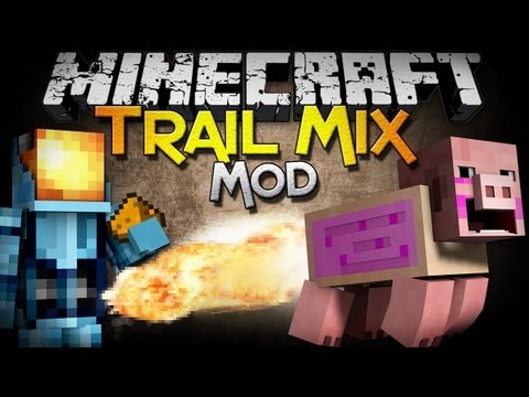 Minecraft Mod Showcase: Trail Mix Mod – Ride, Launch, and EXPLODE Pigs!