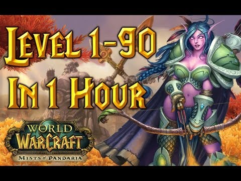 Level 1-90 In One Hour – World of Warcraft (Time-Lapse)