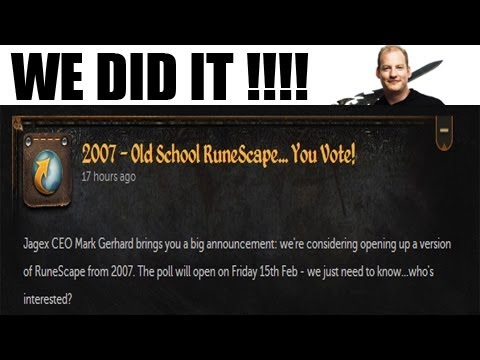 WE DID IT GUYS!!!! (2007 Runescape is Coming Back!!)