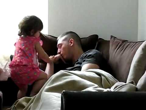 Funny Baby Waking Up Daddy