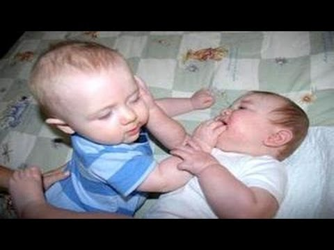 Funny Babies Caught Fighting