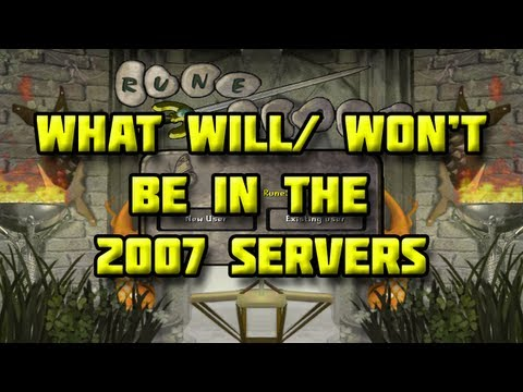 What will / won't be in 2007 RuneScape?