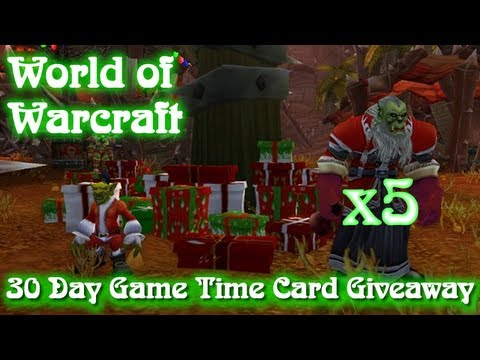 World of Warcraft: 30 Day Game Time Card Giveaway x5 (Ended)