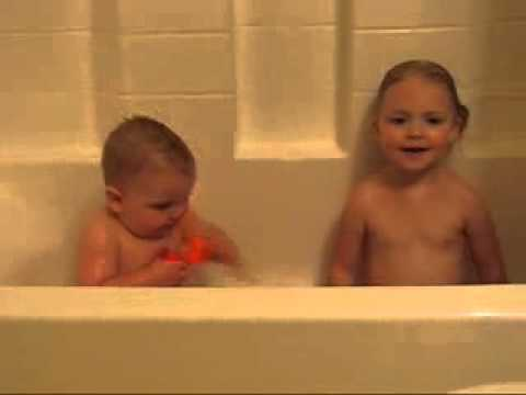 Amazing funny video Babies taking Bath.