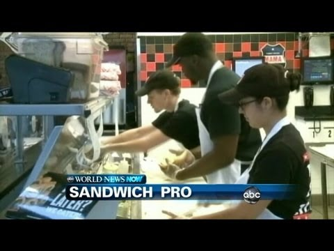 WEBCAST: NFL Star Turns To Making Sandwiches