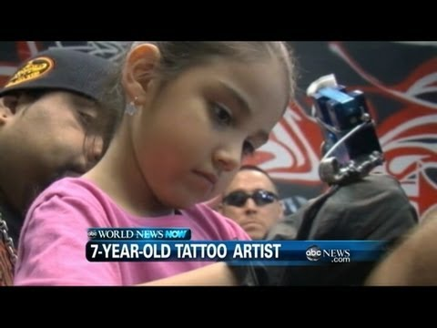 WEBCAST: Seven Year Old Tattoo Artist