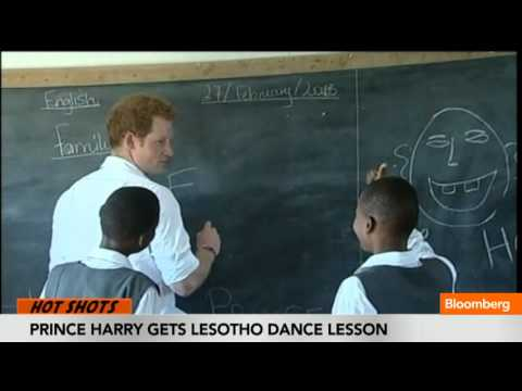 Prince Harry Gets Lesotho Dance Lesson