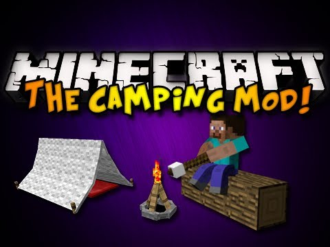 Minecraft: The Camping Mod – TENTS, CAMPFIRES, & MORE! (HD)
