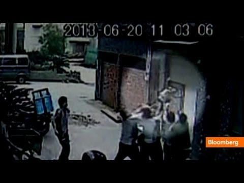 Girl Survives Five-Story Fall: Caught on Tape