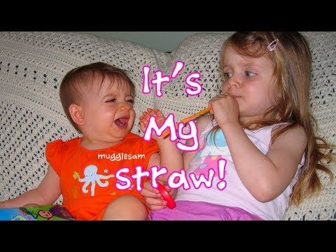 Sophia and Bella Fighting Over the Birthday Straw CUTEST VIDEO EVER!