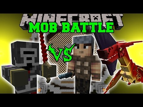 MAXED PLAYER VS GENERAL, VILLAGERS, & MORE – Minecraft Mob Battles – Mods