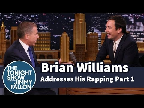 Brian Williams Addresses His Rapping — Part 1