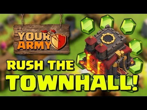 """Gem Rush Townhall To Level 10!"" 