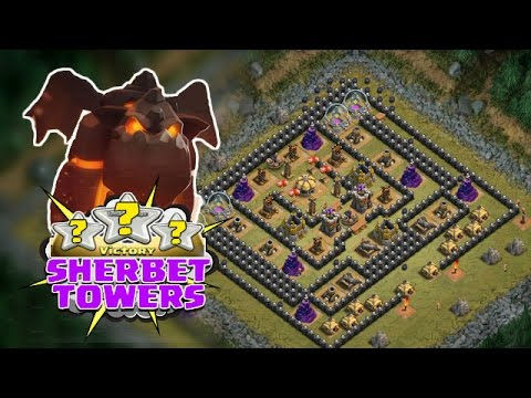 ALL LAVA HOUND RAID Vs SHERBET TOWERS | Clash Of Clans | Single Player Final Level!