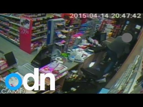 MUST WATCH: Shopkeeper fights off armed robber