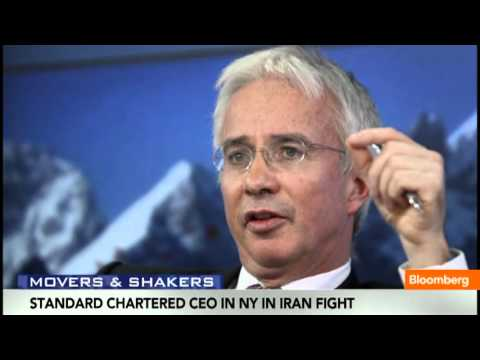 Standard Chartered CEO in NY in Iran Fight