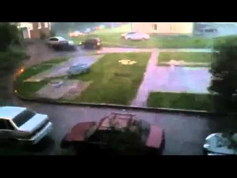 Chicken-egg-sized hailstones hit Siberian city of Mezhdurechensk