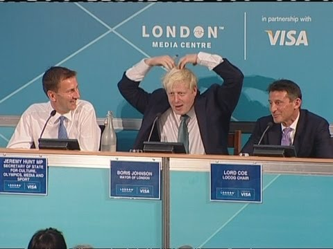 BoJoMoBot: Boris Johnson does the Mobot at 2012 Olympics press conference