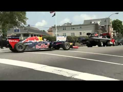 David Coulthard drives at 190mph through Lincoln tunnel, New York