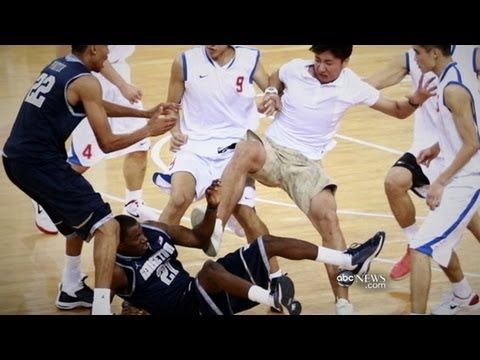 Georgetown Basketball Team Brawls in China