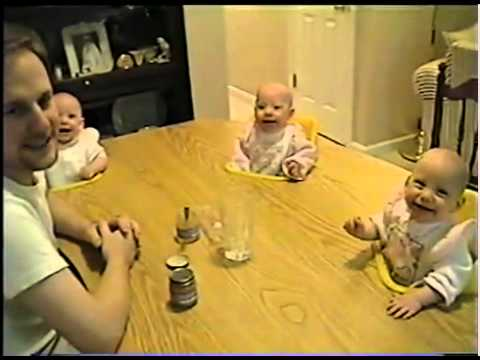 4 twins babies Laughing.flv