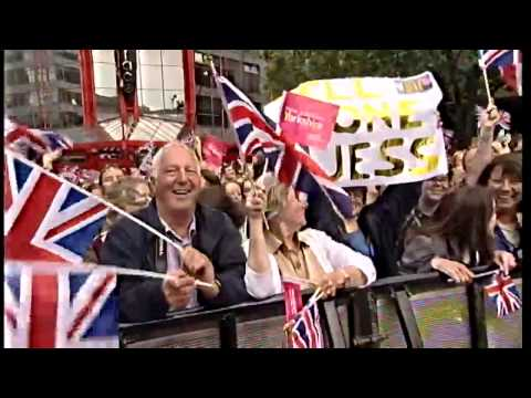 Jessica Ennis welcomed home by cheering crowds in Sheffield