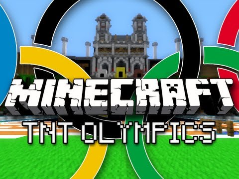 Minecraft: TNT Olympics w/ CaptainSparklez & Friends Part 1 – Hurdles, Long Jump, and Equestrian