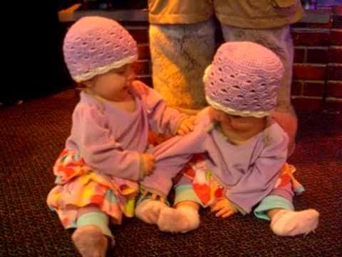 Cute & Funny Video! The Drunk-Looking Crawl & More Twin Baby Stuff, Set To Rocky!