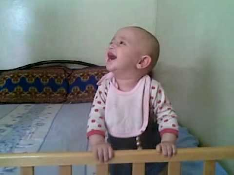 My Cute Baby laughing at the sneeze — very very funny