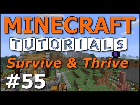 Minecraft Tutorials – E55 Ender Chest (Survive and Thrive III)