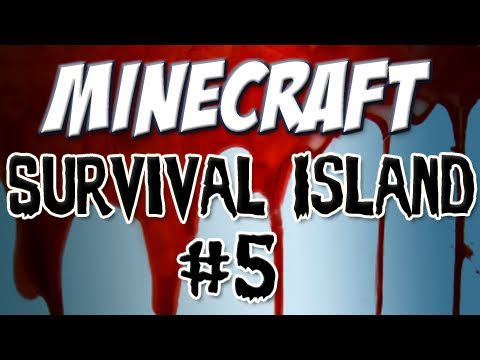 "Minecraft – ""Survival Island"" Part 5: Food and Shelter (and Zombies)"