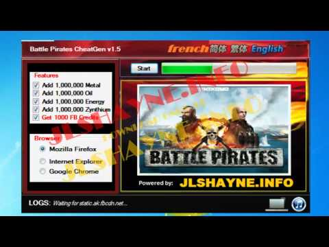 How to Hack Battle Pirates on facebook