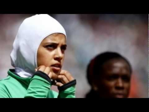First female Saudi Arabian runner Sarah Attar makes mark at London 2012