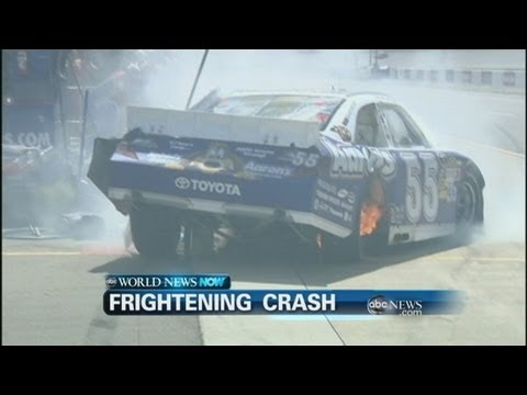 WEBCAST: Frightening Crash Leaves Nascar Driver Unharmed