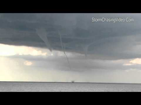 Group of waterspouts spotted on Lake Michigan